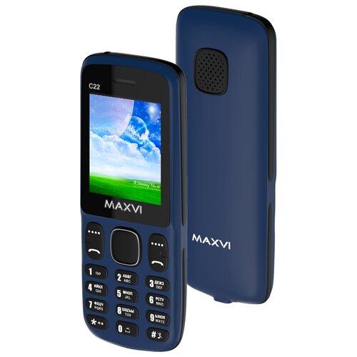 Телефон MAXVI C22 маренго / черный мобильный телефон maxvi c22 black red