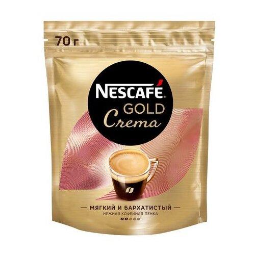 Кофе растворимый Nescafe Gold Crema с пенкой, пакет, 70 г фото