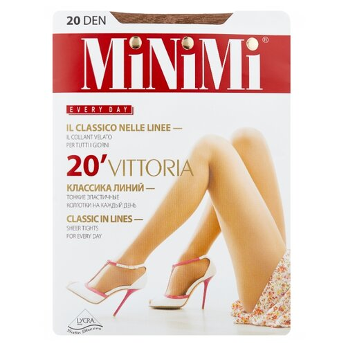 Колготки MiNiMi Vittoria 20 den, размер 4-L, daino (бежевый) колготки minimi linea charme 20 den размер 4 l daino бежевый
