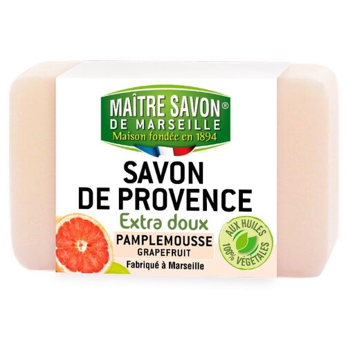 Мыло кусковое Maitre Savon de Marseille Грейпфрут, 100 г цена 2017