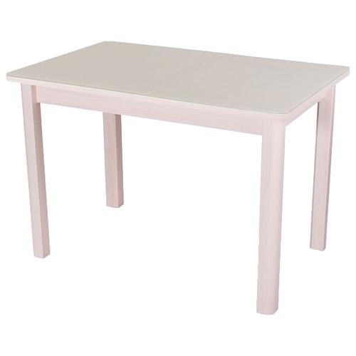 Стол кухонный Домотека Танго ПР-1 04, раскладной, ДхШ: 120 х 80 см, длина в разложенном виде: 157 см, МД ст-крем молочный дуб/крем 04 МД молочный дуб