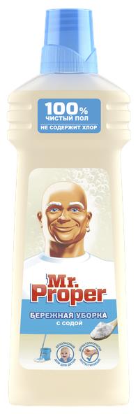 Mr. Proper Моющая жидкость для полов и стен Бережная уборка с содой