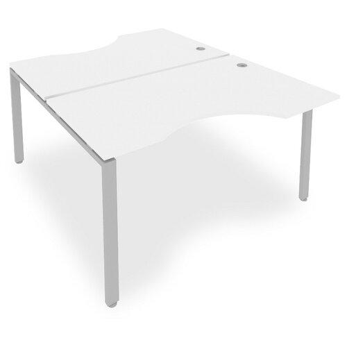 Стол офисный Рива Metal System Б.РАС-СА-2.2 белый/серый