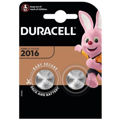 Батарейка Duracell 2016 2 шт блистер
