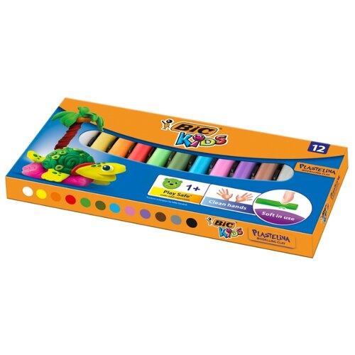 Купить Пластилин BIC Kids 12 цветов, 140 г (947713), Пластилин и масса для лепки