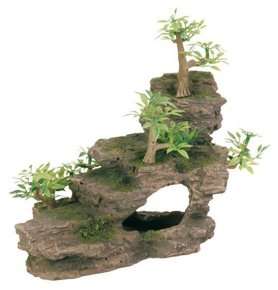 Грот TRIXIE Каменная лестница с растениями высота
