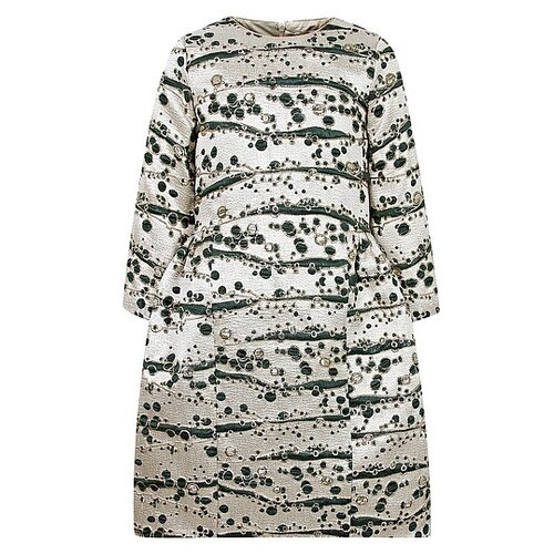 Платье EIRENE размер 170, золотой/зеленый платье eirene размер 170 черный желтый красный