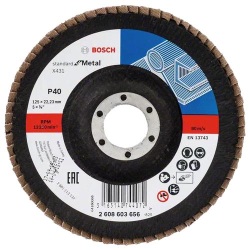 Лепестковый диск BOSCH Standard for Metal 2608603656