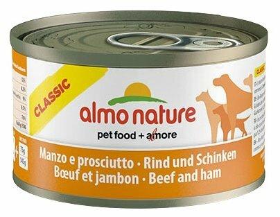 Корм для собак Almo Nature Classic говядина, ветчина 95г