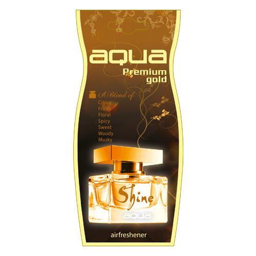 Aqua Ароматизатор для автомобиля Premium Gold Drop Shine 12 г