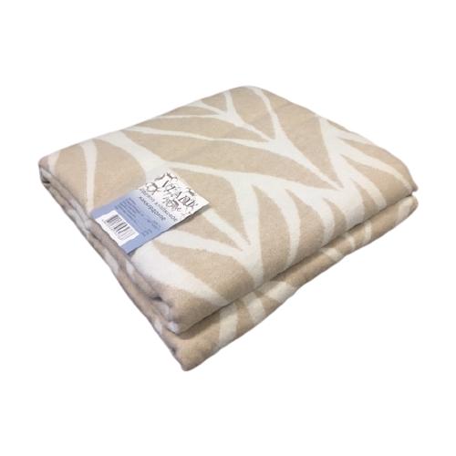 Одеяло Vladi Листья, 140 х 205 см (белый/бежевый)