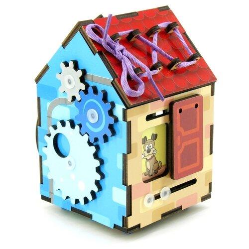 Купить Бизиборд Мастер игрушек Бизи-домик красный/зеленый/голубой/желтый, Развитие мелкой моторики