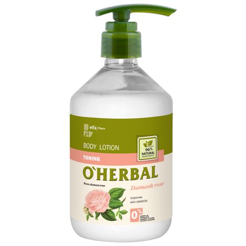 Купить Лосьон для тела O'Herbal Тонизирующий c экстрактом дамасской розы, 500 мл