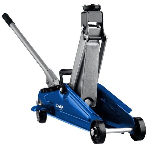 Фото - Домкрат подкатной гидравлический ЗУБР T50 43052-2 (2 т) синий домкрат подкатной гидравлический зубр 3т t70 профессионал 43052 3 z01