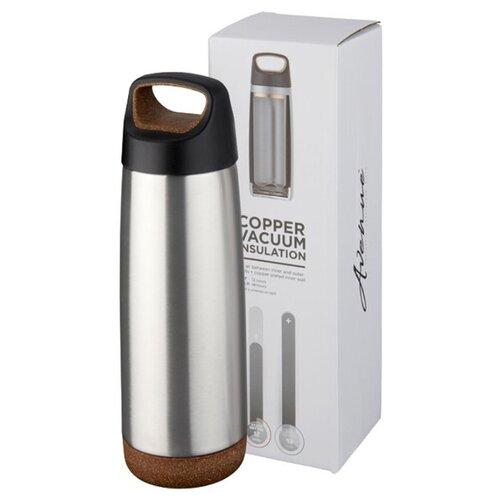 Спортивная медная бутылка с вакуумной изоляцией Valhalla объемом 600 мл, серебристый