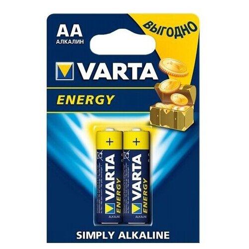 Фото - Батарейка AA щелочная Varta LR6-2BL Energy (4106) в блистере 2шт. батарейка varta energy aa 6 шт