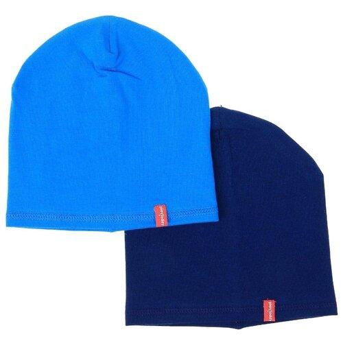 Шапка playToday размер 46, синий/голубой брюки спортивные женские nike w nsw gym vntg pant цвет голубой 883731 449 размер m 46 48