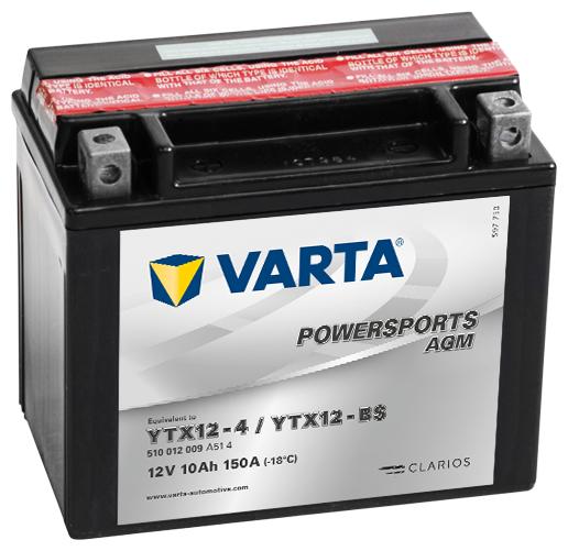 Мото аккумулятор VARTA Powersports AGM (510 012 009)