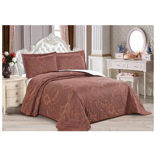 Комплект с покрывалом Cleo Eternal 240х260 см, коричневый комплект с покрывалом cleo versailles 240х260 см коричневый