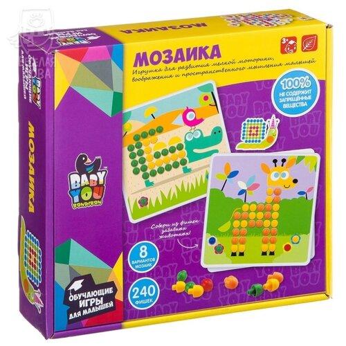 BONDIBON Baby You Мозаика для малышей 240 фишек (ВВ2870)