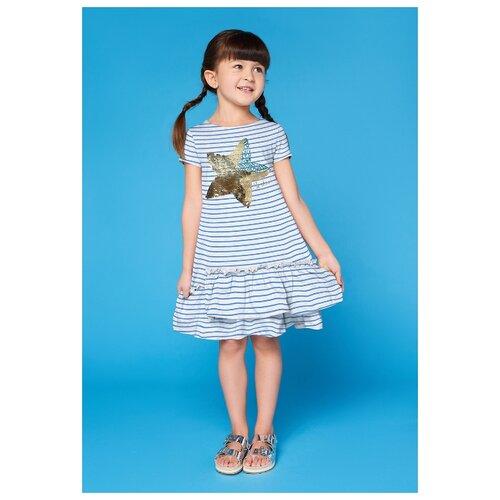 Купить Платье INFUNT размер 110, голубой, Платья и сарафаны