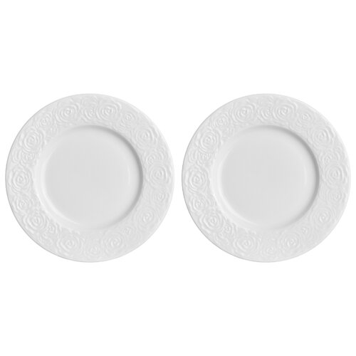 Набор тарелок для десертов 2 предмета 16х16х1,7 см Elan Gallery Розы недорого
