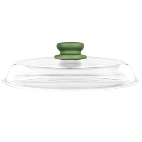 Крышка Risoli стеклянная Dr. Green 00200DR/2800 (28 см) прозрачный/зеленый