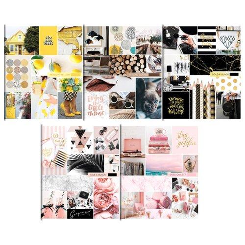 Купить ArtSpace Упаковка тетрадей Стиль. Выбери свой цвет Т96кГЛ_21006, 5 шт./5 дизайнов, клетка, Тетради