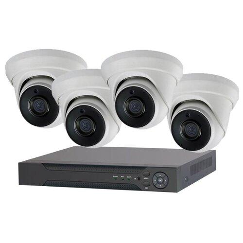 Комплект видеонаблюдения IVUE 1080P-IPC-D4 4 камеры ivue ipc ob40f36 20p