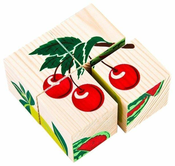 Кубики-пазлы Томик Фрукты-ягоды 3333-2
