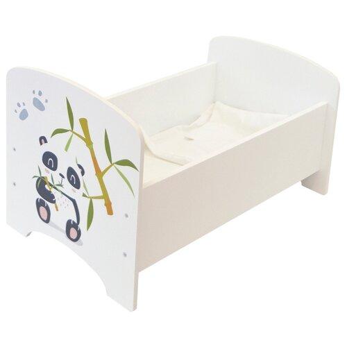 Купить PAREMO Кроватка Мимими Крошка По (PFD120-92) белый, Мебель для кукол