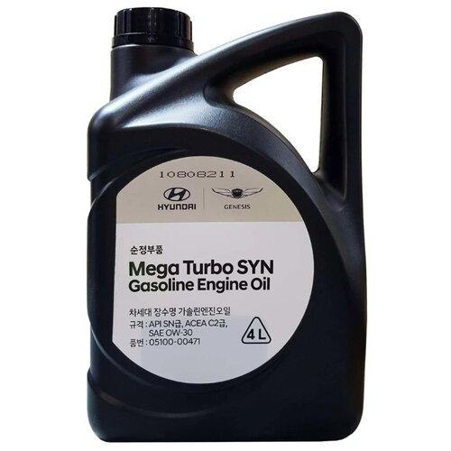 Синтетическое моторное масло MOBIS Mega Turbo SYN Gasoline 0W-30 4 л минеральное моторное масло mobis classic gold diesel 10w 30 4 л