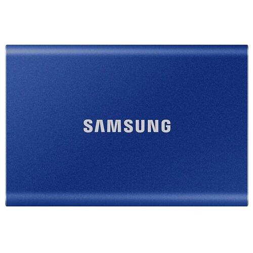 Внешний SSD Samsung Portable SSD T7 1 ТБ синий