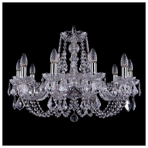 Люстра Bohemia Ivele Crystal 1406 1406/10/300/Ni/Leafs, E14, 400 Вт люстра bohemia ivele crystal 1406 1406 8 160 ni leafs e14 320 вт