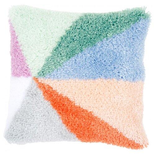 Vervaco Набор для вышивания подушки Нежные цвета 40 х 40 см (PN-0175301) набор для вышивания подушки полным крестом orchidea 9350 разноцветный 40 х 40 см