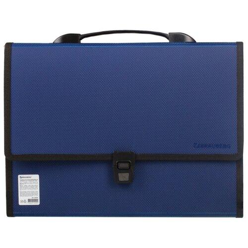Купить BRAUBERG Портфель пластиковый Дипломат А4, 13 отделений, 330 х 240 х 25 мм синий, Файлы и папки