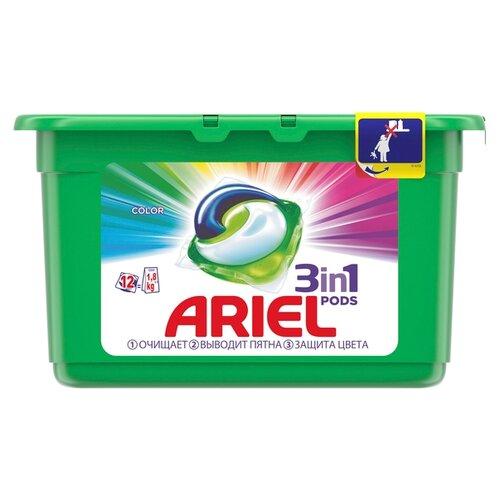 Капсулы Ariel Color, контейнер, 12 шт цена 2017
