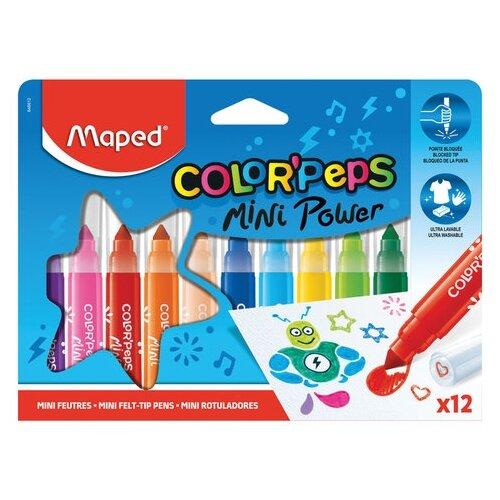Купить Maped Набор фломастеров Color Peps Jumbo Mini, 12 шт., Фломастеры