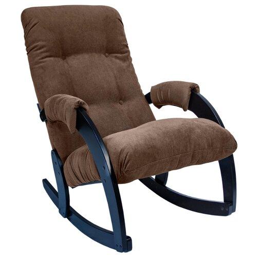 цена на Кресло-качалка Комфорт Модель 67 размер: 60х103 см, обивка: ткань, цвет: венге/Verona Brown