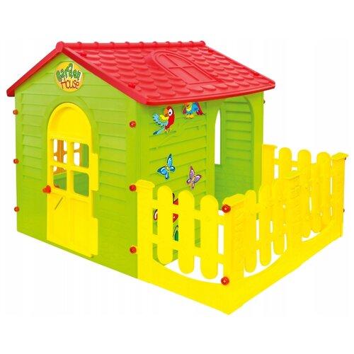 Фото - Домик Mochtoys С забором 10839 зеленый/желтый/красный mochtoys раскраска картонный домик 10721