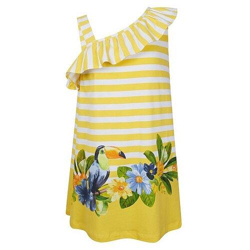 Купить Платье Mayoral размер 140, полоска/желтый/белый/зеленый, Платья и сарафаны
