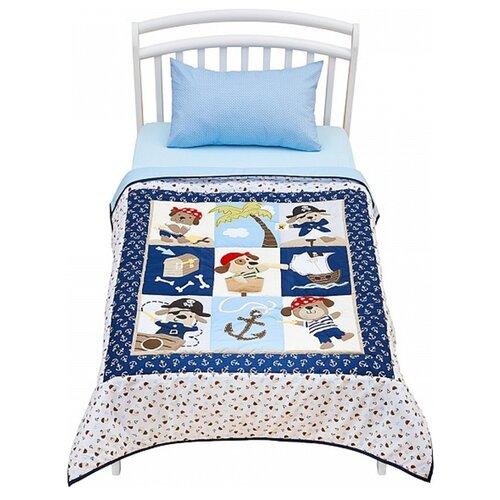 Одеяло-покрывало Shapito by Giovanni Piratic Kids 120 х 160 см, синий / белый постельное белье giovanni shapito joy 2 предмета