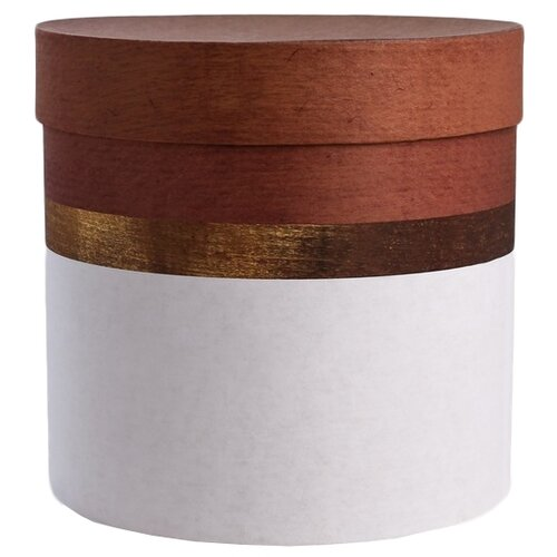 Коробка подарочная Дарите счастье Пантон 04 19 × 19 см белый/коричневый