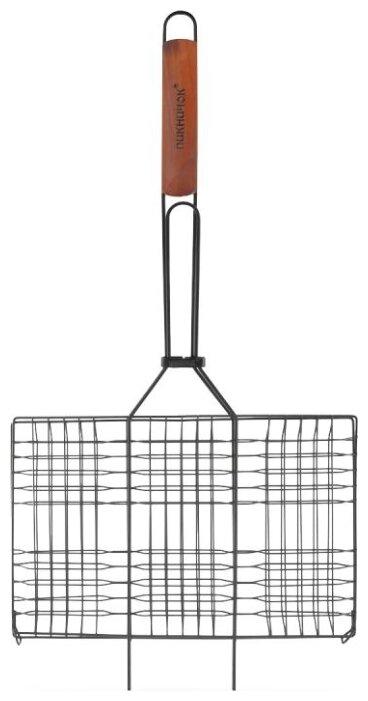 Решетка Пикничок Альпийская 401-020 средняя для барбекю с антипригарным покрытием, 33х22 см