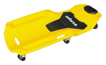 Лежак ремонтный (на колесах, закатываться под днище) inforce 08-14-01