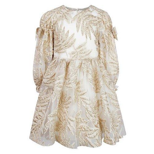 Платье David Charles размер 122, золотой/кремовый