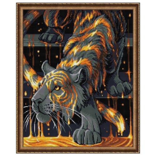 Алмазная живопись Набор алмазной вышивки Тигр в золоте (АЖ-1746) 40х50 см