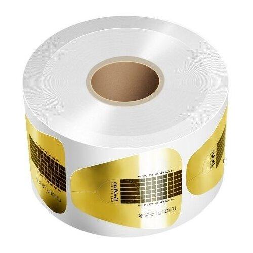 Купить Формы для наращивания Runail Professional одноразовые широкие золотые 500 шт.