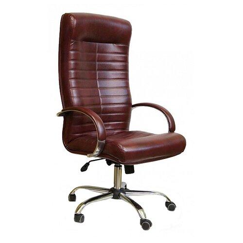 Компьютерное кресло Креслов Орион КВ-07-130112, обивка: искусственная кожа, цвет: бордовый кресло компьютерное креслов орман кв 08 130112 0453