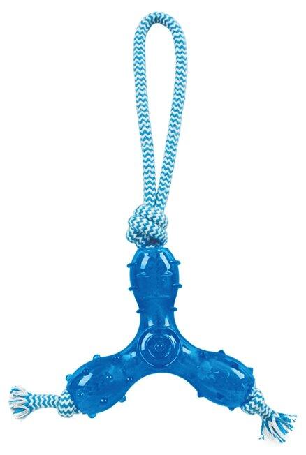 Игрушка для собак Грызлик Ам Треугольник с веревкой Durable Rope Silent (6141/30.GR.029)